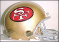 San Francisco 49ers 1964-95 Throwback Mini Replica Helmet