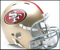 San Francisco 49ers 2009 Full Size Authentic Revolution Helmet