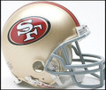 San Francisco 49ers New 2009 Mini Replica Helmet