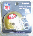 San Francisco 49ers NFL Pocket Pro Single Football Helmet