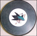 San Jose Sharks NHL Logo Puck