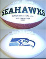 Seattle Seahawks Full Size Logo Football 02-11