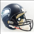 Seattle Seahawks Full Size Replica Football Helmet NEW Matte Navy 2012