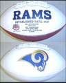St. Louis Rams Full Size Logo Football