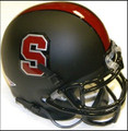 Stanford Cardinals Black Mini Authentic Helmet Schutt