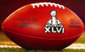 Super Bowl 46 XLVI Wilson Official NFL Authentic Game Football New Eng