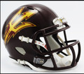 Arizona St Riddell Maroon Mini Speed Revolution Football Helmet