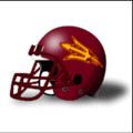 Arizona State Sun Devils Football Helmet Desk Caddy Maroon