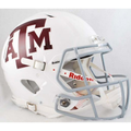 Texas A&M Aggies White Authentic Speed Helmet