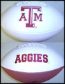 Texas AandM Aggies Full Size Signature Embroidered Series Football