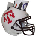 Texas AandM Aggies Mini Football Helmet Desk Caddy White