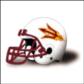 Arizona State Sun Devils Football Helmet Desk Caddy White