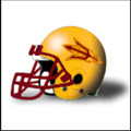 Arizona State Sun Devils Football Helmet Desk Caddy Gold
