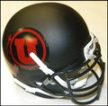 Utah Utes Mini Authentic Schutt Helmet Matte Black w/Red decal