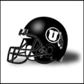 Utah Utes Mini Authentic Helmet Schutt Matte Black w/White decal
