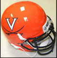 Virginia Cavaliers Mini Authentic Helmet Schutt Orange