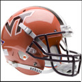 Virginia Tech Hokies Full XP Replica Football Helmet Schutt Orange