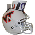Virginia Tech Hokies Mini Football Helmet Desk Caddy White NEW