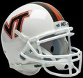 Virginia Tech Hokies White Mini Authentic Schutt Helmet
