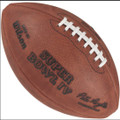Wilson Official Super Bowl 4 Football Vikings vs Chiefs