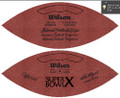 Wilson Official Super Bowl 10 Football Cowboys vs Steelers