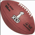 Wilson Official Super Bowl XLV 45 Football With Score