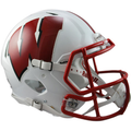 Wisconsin Badgers White Authentic Speed Helmet