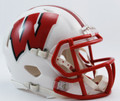 Wisconsin Badgers White Riddell NCAA Mini Speed Helmet