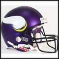 Minnesota Vikings 2013 Full Size Authentic Helmet - New Purple Matte