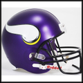 Minnesota Vikings Full Size Replica Helmet - New Purple Matte