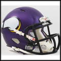 Minnesota Vikings 2013 Mini Speed Football Helmet - New Purple Matte
