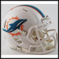Miami Dolphins Mini Speed Football Helmet
