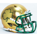 Notre Dame Fighting Irish NCAA Mini Speed Football Helmet Hydrofx Shamrock