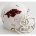 Arkansas Razorbacks NCAA Mini Speed Football Helmet White