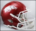 Arkansas Razorbacks Matte Red to Black Mini Speed Helmet