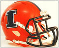 Illinois Fighting Illini Orange w/Blue Mini Speed Helmet