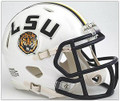 LSU Tigers WHITE Riddell NCAA Mini Speed Revolution Helmet