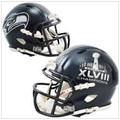 Seattle Seahawks Super Bowl 48 XLVIII Champions Riddell Speed Mini Helmet