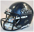 Seattle Seahawks Super Bowl 48 XLVIII Champions Revolution Speed Full Size Helmet with HYDROFX Decal