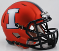 Illinois Fighting Illini Orange with White I Mini Speed Helmet