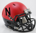 Nebraska Cornhuskers Matte Red/Black Mini Speed Helmet
