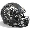 Northwestern Wildcats Matte Black Growling Wildcat Mini Speed Helmet