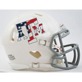Texas A&M Aggies White Stars and Stripes Mini Speed Helmet