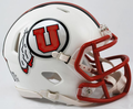 Utah Utes White Mini Speed Helmet