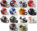 SEC Mini Speed Football Helmet Conference Set of 14