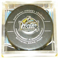 2011 Winter Classic NHL Hockey Official Game Puck Pittsburgh Penguins vs. Washington Capitals