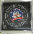 New York Islanders 43 Years of History 1972-2015 NHL Team Sher-Wood Official Ice Hockey Game Puck