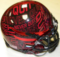Texas Tech Red Raiders Never Quit Lone Survivor Mini Authentic Schutt Helmet