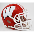 Wisconsin Badgers Red NCAA Full Size Replica Speed Helmet