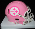 Pittsburgh Steelers Pink Mini Speed Helmet